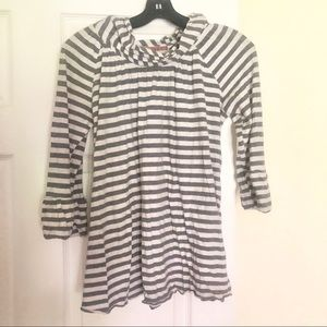 Anthropologie striped gray and white sweater